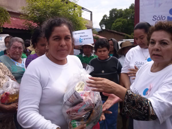 Delivery pantries in San Pedrito, Municipality of San Lucas, Michoacan