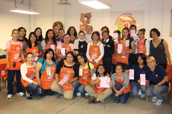 Talks on Early Detection of Breast Cancer Home Depot, October 2013.