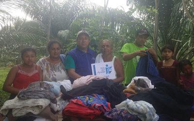 Entrega de ropa en Jalapa Tabasco
