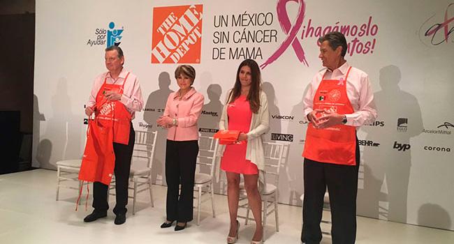 ¡Por un México sin cáncer de mama! Gracias Home Depot por confiar en nosotros y ayudarnos a ayudar.