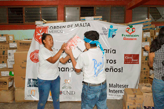 Apoyo va afectados en Oaxaca en alianza con la Orden de Malta México.