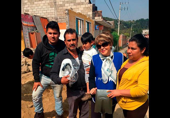 Gracias Home Depot por seguir ayudando a los afectados de los sismos de septiembre en Atlautla Estado de México.