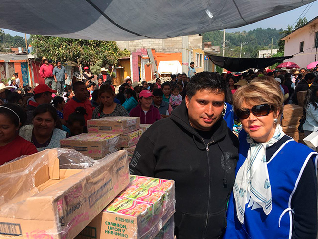 Gracias The Black Jaguar-White Tiger Foundation por apoyar a los damnificados del sismo del 19 de septiembre en Atlautla Estado de México.