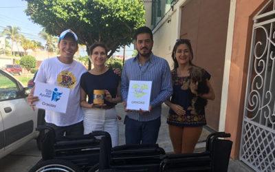 Entrega de sillas de ruedas en Villahermosa Tabasco. ¡Gracias Fundación Kaobah por ayudarnos a ayudar!