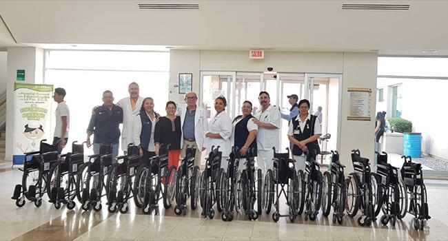 Donación de sillas de ruedas al Hospital General de Especialidades»Juan María de Salvatierra» en La Paz Baja California sur.