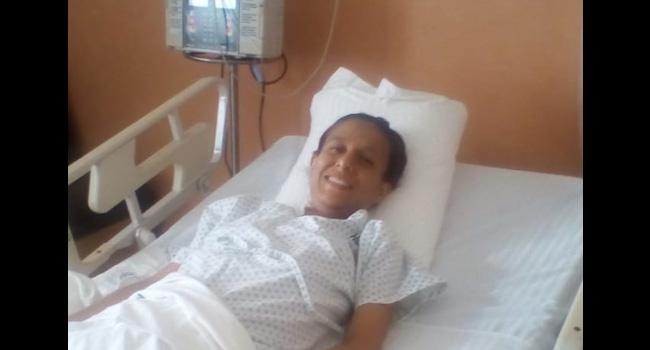 Yessica de 30 años fue trasplantada en febrero en el Instituto Mexicano de Trasplantes gracias al riñón donado por su papá.