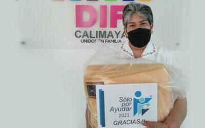 Delivery of DIF Calimaya blankets